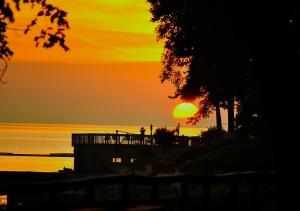 view of great sunrise at Avon Lake, Ohio | Gilbert Imbiri